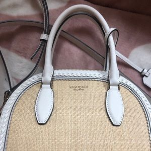 Kate Spade white and tan crossbody! Unique + BNWT